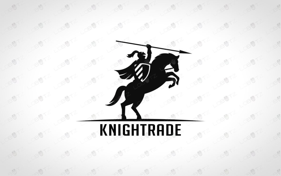Modern Knight Logo For Sale | Strong Logos