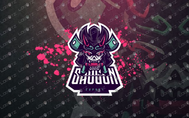 skull samurai mascot logo skull samurai esports logo premade logos