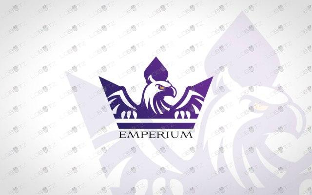 Eagle Crown Logo For Sale Premade Crown Eagle Logo