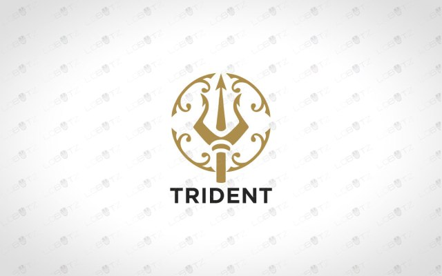 premade trident logo for sale