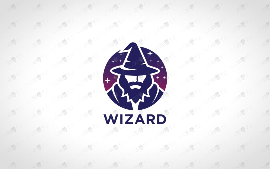 wizard logo for sale premade wizard logo