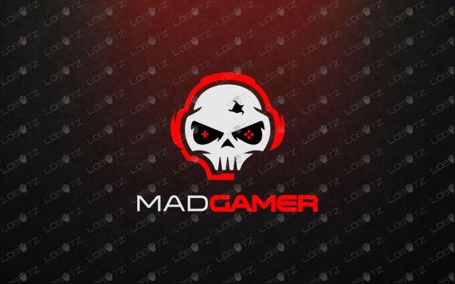 Skull Mascot Logo Skull Gamer Logo For Sale Gaming esports logo for twitch