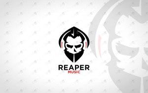 Music Reaper Logo | Reaper Music Logo For Sale Skull Logo