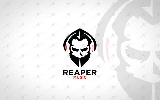 Music Reaper Logo   Reaper Music Logo For Sale Skull Logo