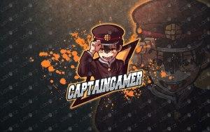 Captain Gamer Mascot Logo For Sale   Gamer eSports Logo premade logos