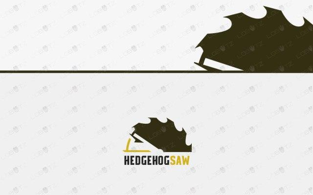 Modern Hedgehog Logo For Sale   Hedgehog Saw Logo