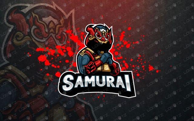 premade samurai mascot logo samurai esports logo for sale