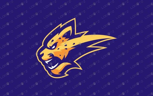 Cheetah Mascot Logo For Sale Readymade Cheetah eSports Logo