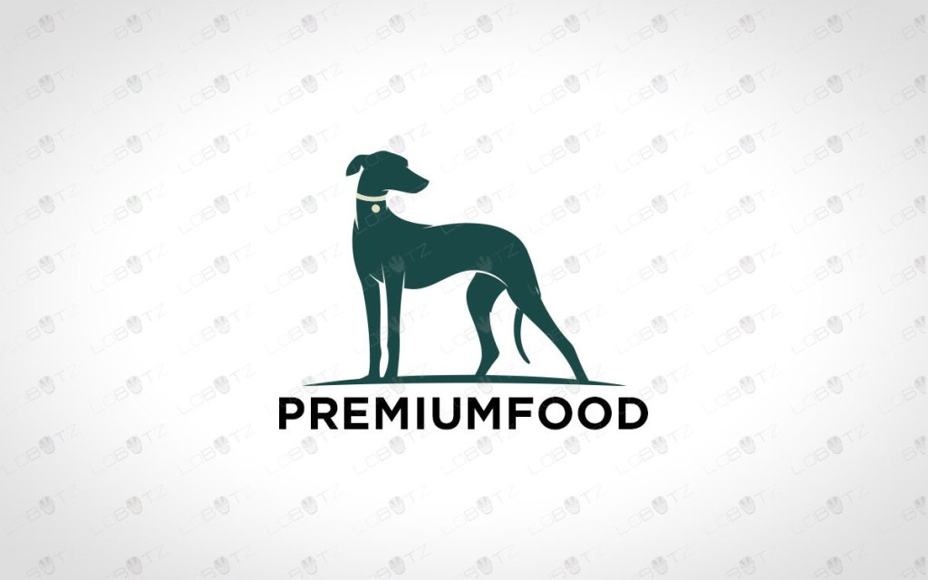 Premium Greyhound Dog Logo For Sale