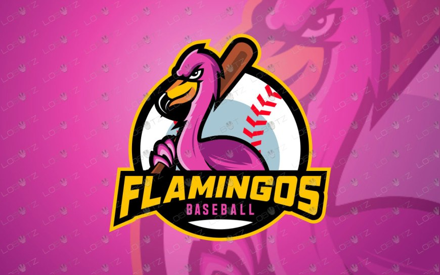 Premade Flamingo Mascot Logo For Sale flamingos mascot logo