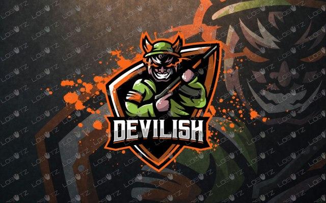 Devil Soldier Mascot Logo | Skull Soldier Mascot Logo