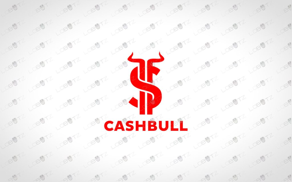 Cash Bull Logo For Sale | Premade Money Bull Logo
