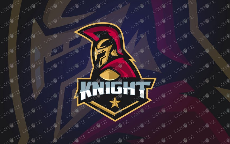 Premade KnightMascot Logo | Knight eSports Logo For Sale