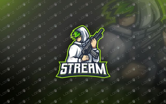Premade Streamer Mascot Logo | Gaming eSports Logo For Sale premade mascot logos