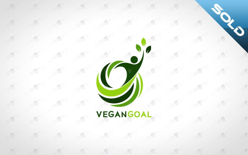 vegan logo for sale Natural Man Logo