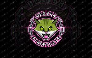 Cat Mascot Logo Premade Logos   Cat eSports Logo For Sale