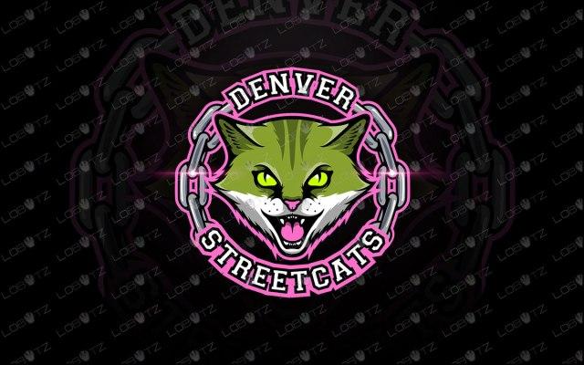 Cat Mascot Logo Premade Logos | Cat eSports Logo For Sale