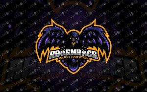 Raven Mascot Logo   Raven eSports Logo For Sale