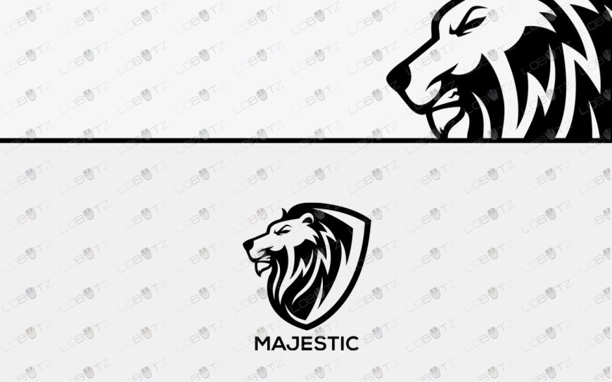 lion logo for sale premade lion head logo