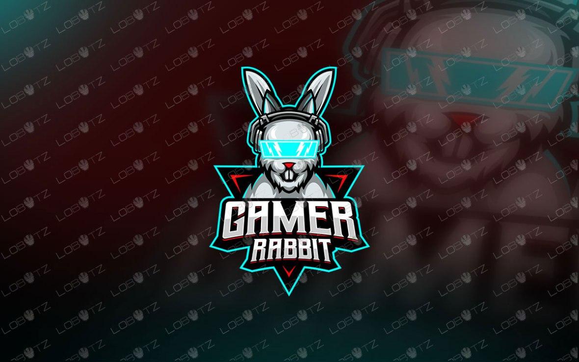 Gamer Rabbit Mascot Logo Gamer Rabbit eSports Logo For Sale gamer mascot logo