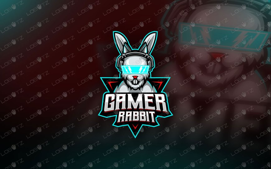 Gamer Rabbit Mascot Logo Gamer Rabbit eSports Logo For Sale gamer mascot logo