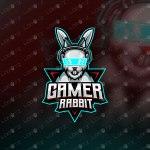 Gamer Rabbit Mascot Logo Gamer Rabbit eSports Logo For Sale