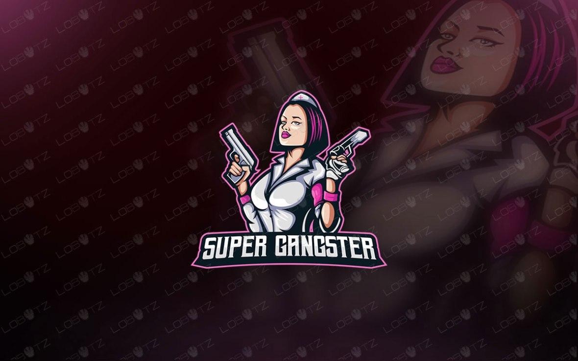 Nurse Mascot Logo For Sale | Gamer Girl Mascot Logo For Sale