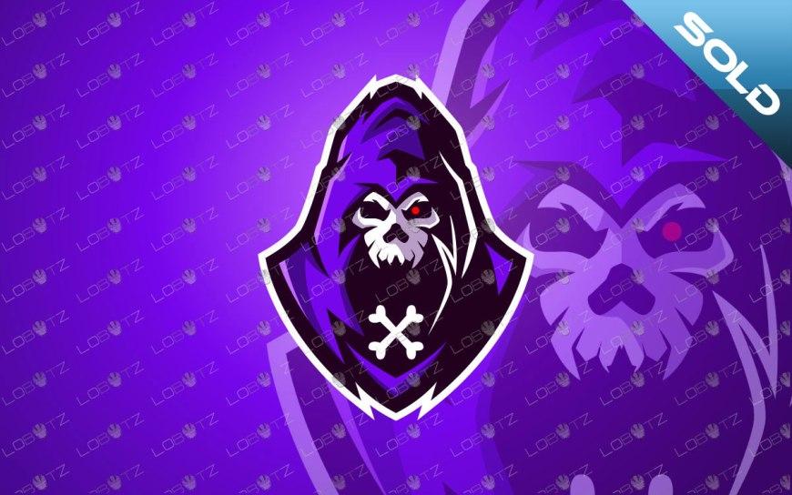 Skull Mascot Logo For Sale | Grim Reaper Mascot Logo