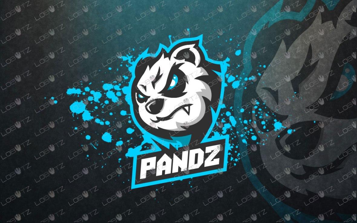 Jaw Dropping Panda Mascot Logo For Sale