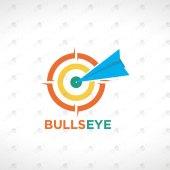 Premade Bullseye Logo For Sale | Target Logo To Buy Online