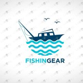 Fishing Logo For Sale | Yacht Logo For Sale | Travel & Tourism Logo