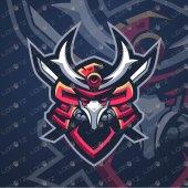 Cyborg Samurai Mascot Logo | Premade Samurai eSports Logo For Sale