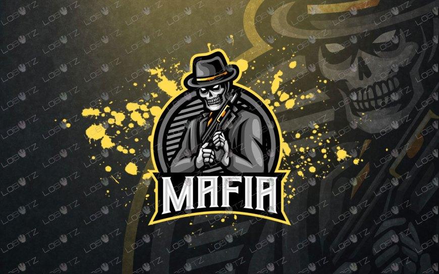 Gaming Logo | Premade Skull Mafia Mascot Logo