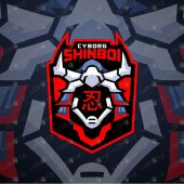 Gaming Logo | Cyborg Shinobi Mascot Logo