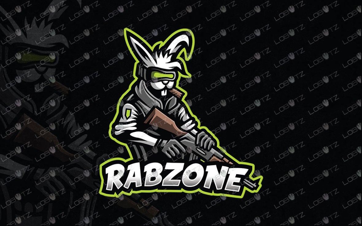 Gaming Logo | Premade Rabbit Mascot Logo For Sale