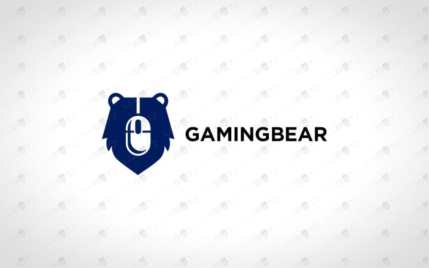 Modern Gaming Bear Logo For Sale
