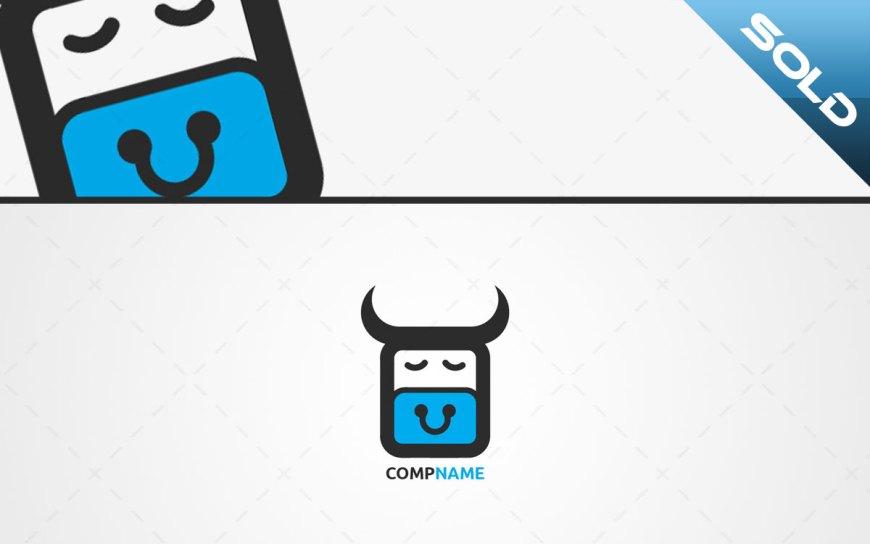 Cute ox logo for sale