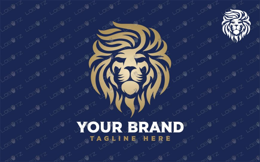 Premium Lion Head Logo For Sale