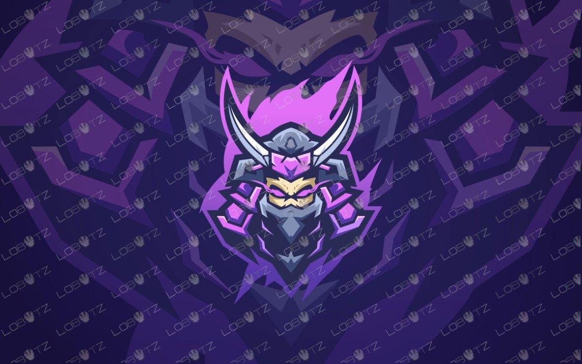 Samurai Mascot Logo For Sale | Skull Hanzo Mascot Logo