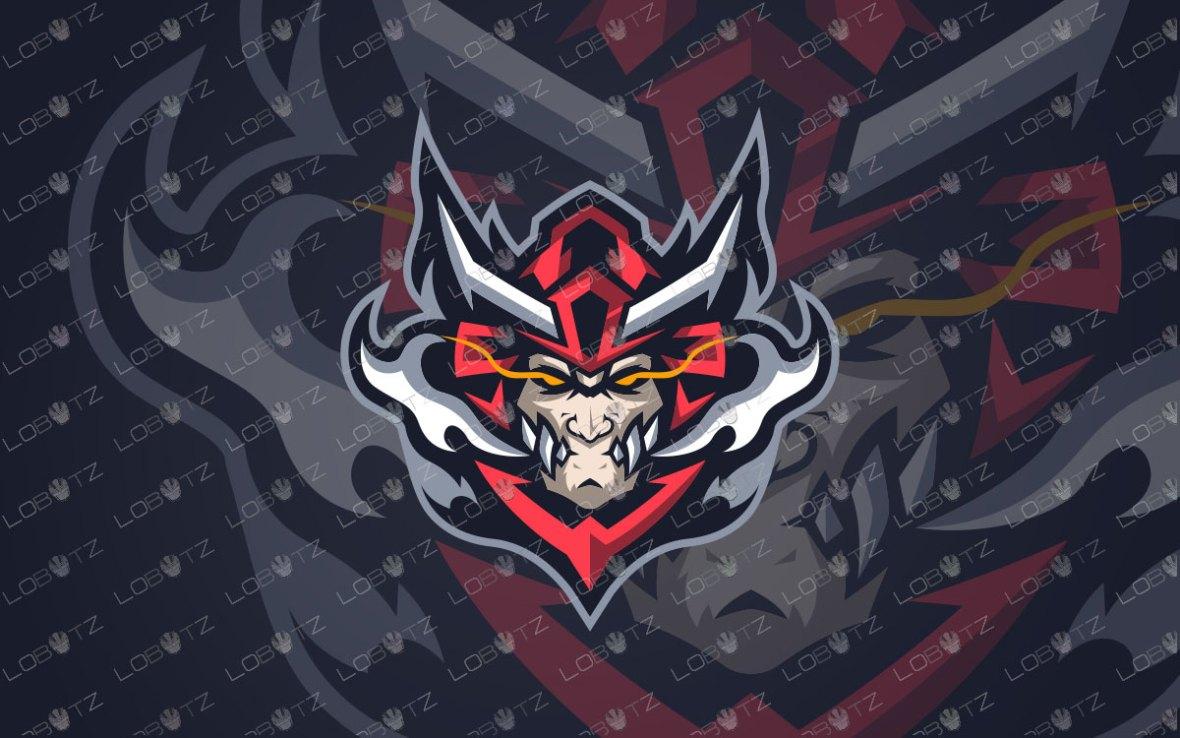 Samurai Mascot Logo For Sale | Samurai ESports Logo