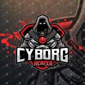 Grim Reaper Mascot Logo | Reaper Cyborg Mascot Logo For Sale