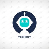 Premade Robot Head Logo For Sale Premade Logo