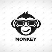 Modern And Stylish Monkey Logo For Sale