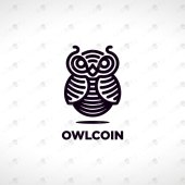 Premade Owl Logo | Majestic Owl Logo For Sale