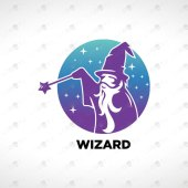 Creative & Modern Wizard Logo For Sale