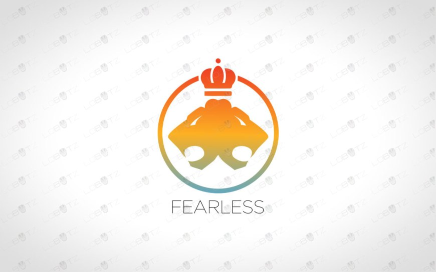 Majestic Lions Head Logo | Royal Lions Logo For Sale