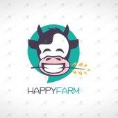 Happy Farm Logo For Sale Happy Cow Logo