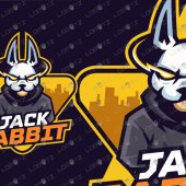 Rabbit Mascot Logo   Premade Rabbit Esports Logo For Sale