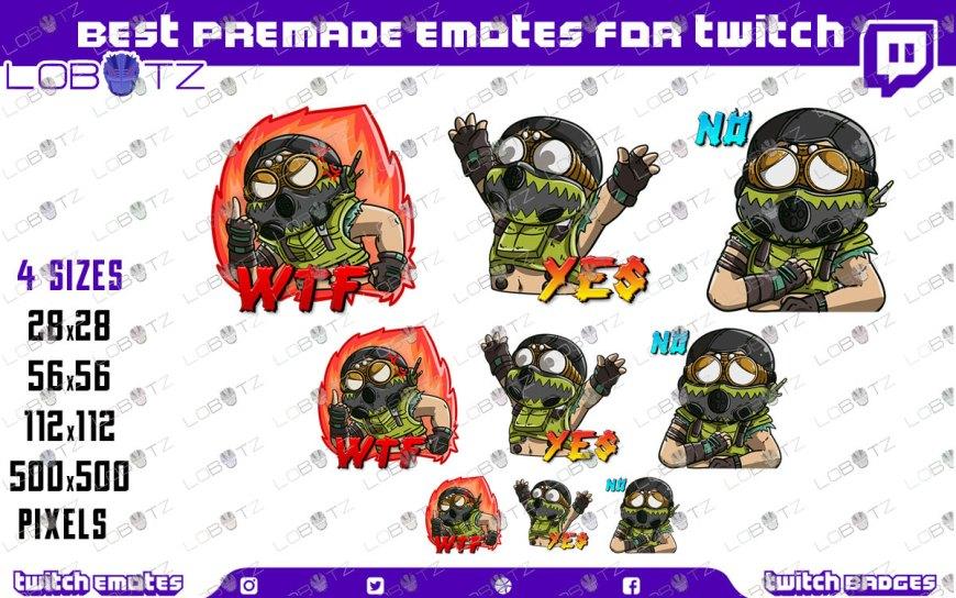 Apex Legends Twitch Emotes Pack, Octane Apex Legends Twitch Emotes, Twitch Emotes For Streamer, Discord Emotes, Discord Emotes Pack.