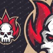 Fire Skull Mascot Logo | Premade Skull ESports Logo
